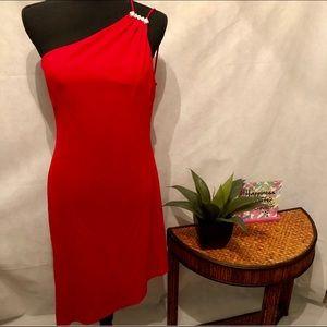 Betsy & Adam One-Shoulder Dress
